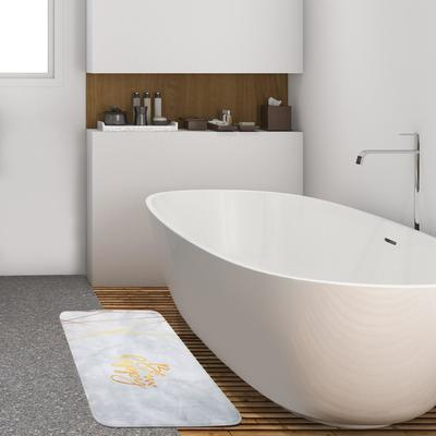"""Коврик для ванной Этель """"Be happy"""", 80х50 см, велюр - Фото 1"""
