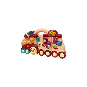 Развивающий игровой центр Everflo Baby train, цвет розовый