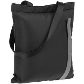 Сумка для покупок tagBag черная, 30х36 см, ручки 68 см