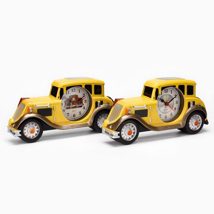 """Будильник """"Жёлтая машина"""", d=7 см, 3 ААА, 24х4х11 см"""