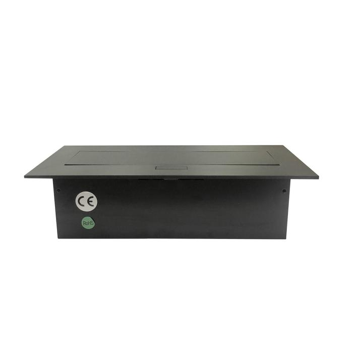 Блок розеток mebax MX-226, 3 секции, 212х60мм, полуавтоматический, без кабеля, черный