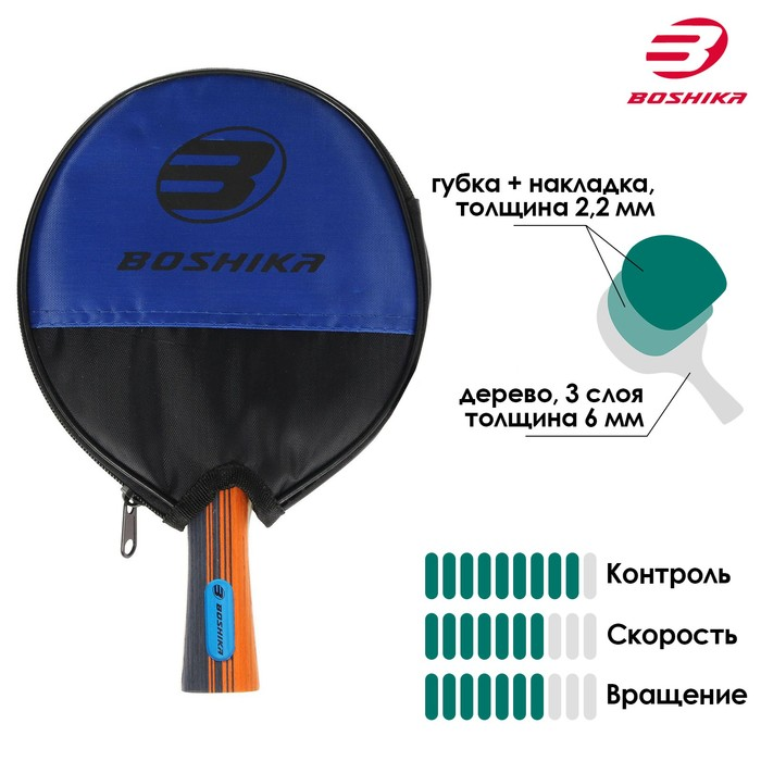 Ракетка для настольного тенниса BOSHIKA в чехле