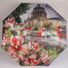 Зонт автоматический «Города и цветы», 3 сложения, 8 спиц, R = 50 см, цвет МИКС - Фото 10