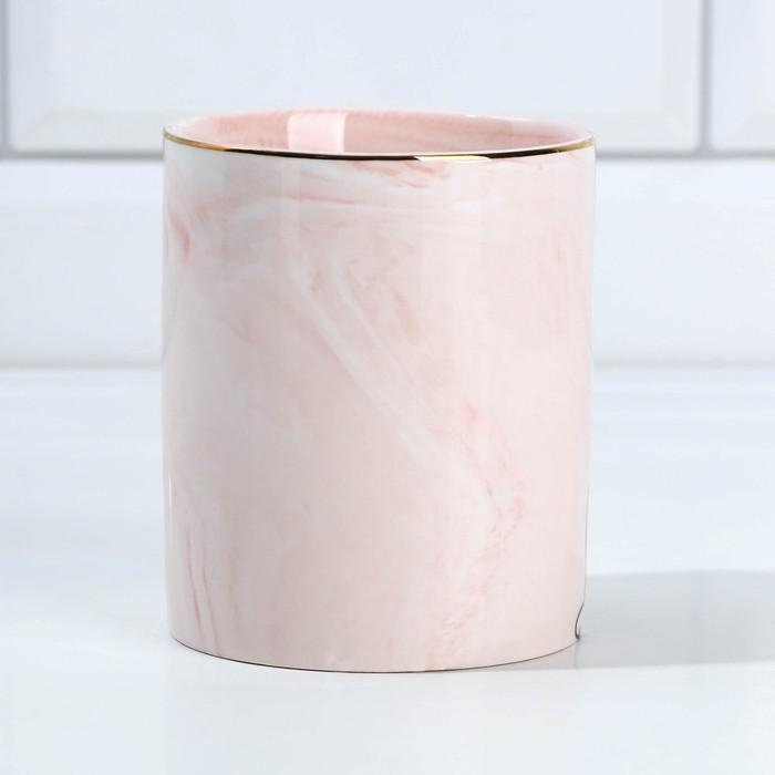 Керамический органайзер Meow, розовый, 8 х 9,5 см