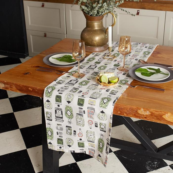 """Дорожка на стол """"Этель"""" Kitchenware 40х149см, 100% хл, саржа 190 г/м2"""
