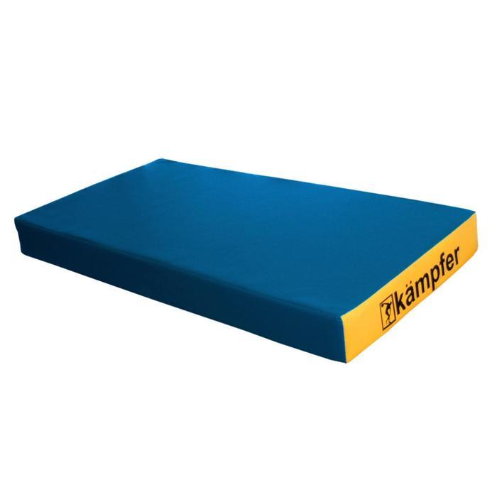 Kampfer Мат №1, цвет 100 х 50 х 10 см, винилискожа, цвет синий/жёлтый