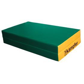 Kampfer Мат №4, цвет 100 х 100 х 10 см, складной, винилискожа, цвет зелёный/жёлтый