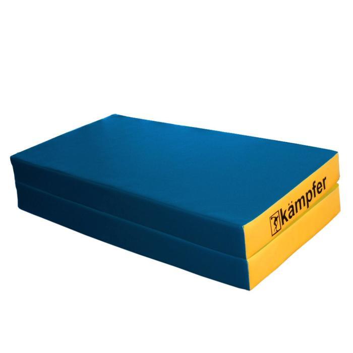 Kampfer Мат №4, цвет 100 х 100 х 10 см, складной, винилискожа, цвет синий/жёлтый