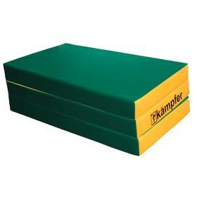 Kampfer Мат №6, цвет 150 х 100 х 10 см, складной, винилискожа, цвет зелёный/жёлтый