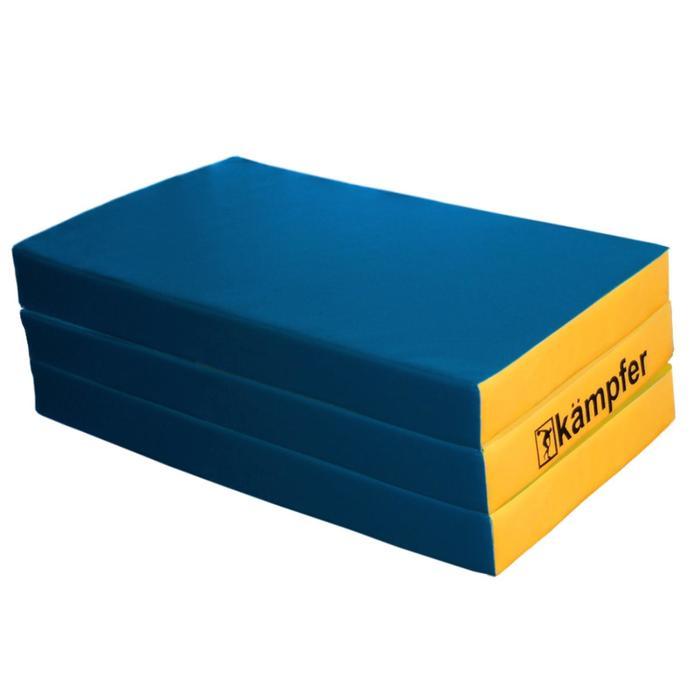 Kampfer Мат №6, цвет 150 х 100 х 10 см, складной, винилискожа, цвет синий/жёлтый
