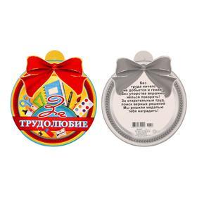 Медаль 'За Трудолюбие' ножницы, линейка Ош