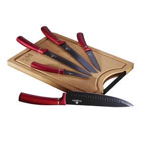 Набор ножей с разделочной доской, 6 предметов