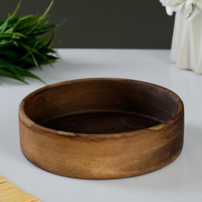 """Тарелка """"Кеци"""" коричневая, 14х4см - Фото 1"""