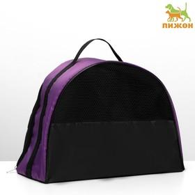 Сумка-переноска средняя 39 х 19 х 27 см, оксфорд, фиолетовая Ош