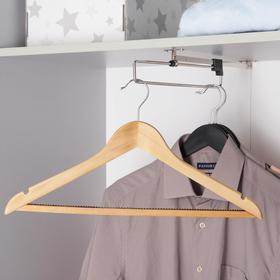 Вешалка для одежды с антискользящей перекладиной SAVANNA, размер 46-48, сорт А, светлое дерево, клён