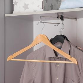 Вешалка для одежды с перекладиной SAVANNA, размер 46-48, сорт А, светлое дерево, клён
