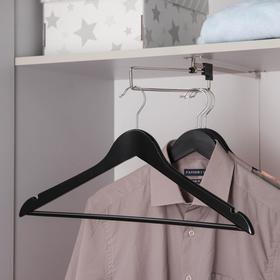 Вешалка для одежды с перекладиной SAVANNA, размер 46-48, сорт А, тёмное дерево, клён