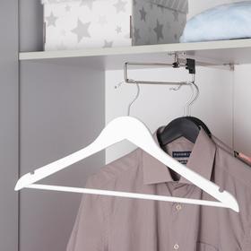 Вешалка для одежды с перекладиной SAVANNA, размер 46-48, дерево, покрытие Soft-touch, цвет белый