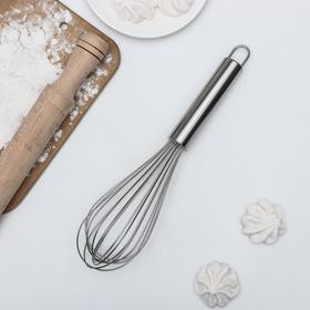 Венчик кулинарный KONFINETTA «Сильвер», струна 1,3 мм, 30×8×8 см