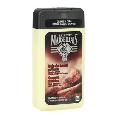 Гель шампунь для мужчин Le Petit Marseillais Сандал и ваниль, 250 мл - Фото 1