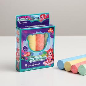 Мелки цветные Enchantimals, 4 цвета в коробке, МИКС