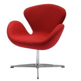 Кресло Swan Chair, 700 × 700 × 955 мм, цвет красный кашемир