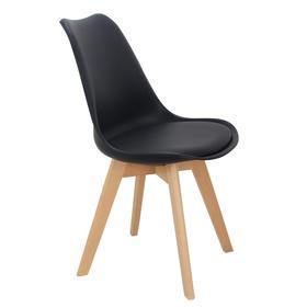 Стул Eames Bon, 490 × 490 × 840 мм, цвет чёрный