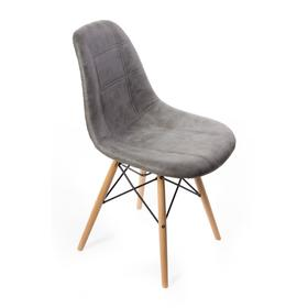 Стул Eames DSW leather, 550 × 480 × 835 мм, цвет серый