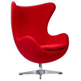 Кресло EGG Chair, 850 × 765 × 1094 мм, цвет красный кашемир