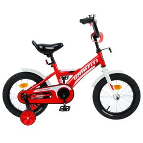 Велосипед 14' Graffiti Storman, цвет красный/белый Ош