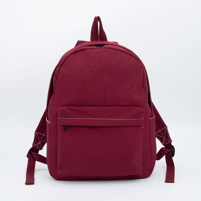 купить Рюкзак, отдел на молнии, наружный карман, цвет бордовый