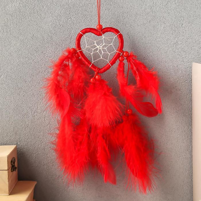 Ловец снов Сердце с паутинкой МИКС 6х25 см