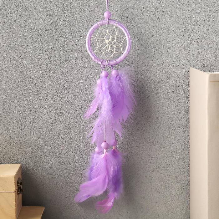 Ловец снов Плетённый цветок МИКС d5 см 24 см
