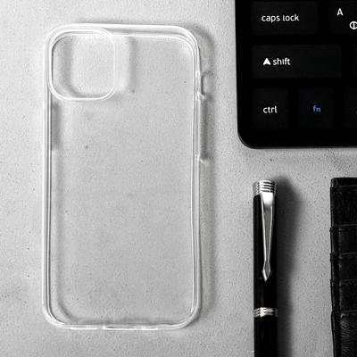 "Чехол LuazON для iPhone 12 mini, 5.4"", силиконовый, тонкий, прозрачный - Фото 1"