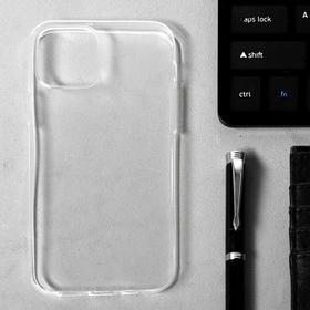 """Чехол LuazON для iPhone 12/12 Pro, 6.1"""", силиконовый, тонкий, прозрачный"""