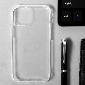 """Чехол LuazON для iPhone 12 mini, 5.4"""", силиконовый, противоударный, прозрачный"""