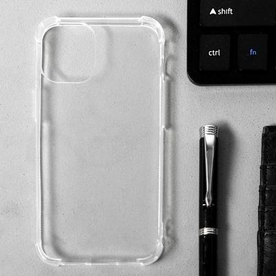 """Чехол LuazON для iPhone 12 mini, 5.4"""", силиконовый, противоударный, прозрачный - Фото 1"""
