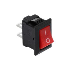 Клавишный выключатель, 250 В, 3 А, ON-OFF, 2c, красный Ош
