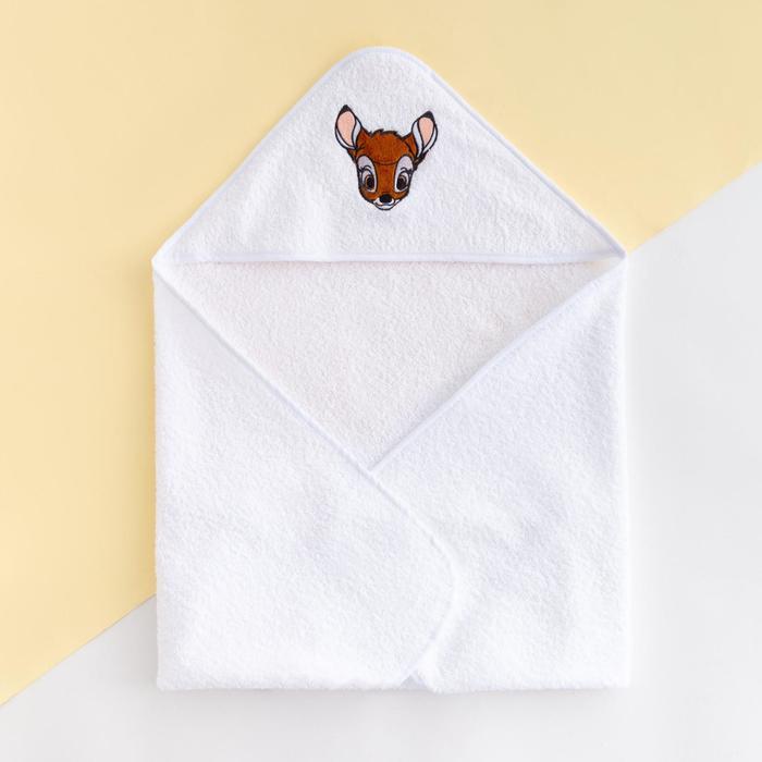 """Махровое полотенце с уголком """"Бемби"""", 75*75 см, хлопок 100%"""