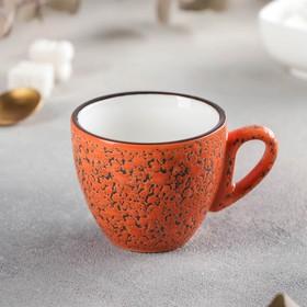 Кофейная чашка Wilmax Splash, 110 мл, цвет оранжевый