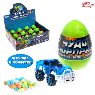 Игрушка в яйце «Чудо-сюрприз: Машинки», МИКС - Фото 1