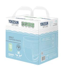 Подгузники-трусики для взрослых YokoSun, размер М (6-10 кг), 10 шт.