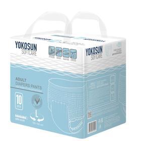 Подгузники-трусики для взрослых YokoSun, размер L (9-14 кг), 10 шт.