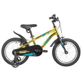 """Велосипед 16"""" Novatrack Prime, 2021, цвет золотой"""