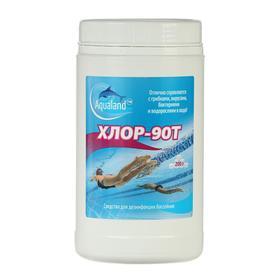 Дезинфицирующее средство Aqualand Хлор-90Т, таблетки 200 г, 1 кг