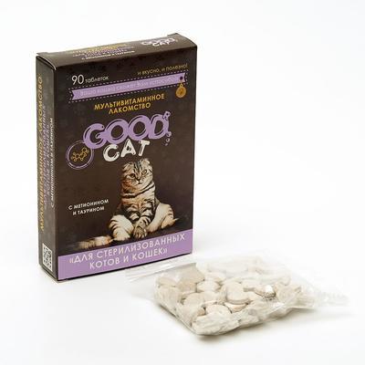 Мультивитаминное лакомcтво GOOD CAT для стерилизованных кошек, 90 таб - Фото 1