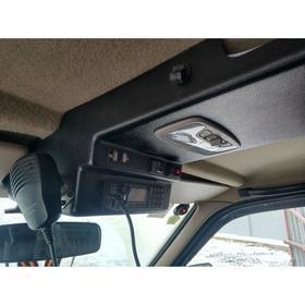 Консоль потолочная для установки р/c УАЗ Патриот 2007-2013, вырез под р/c 140х40 мм, черная   676302 Ош