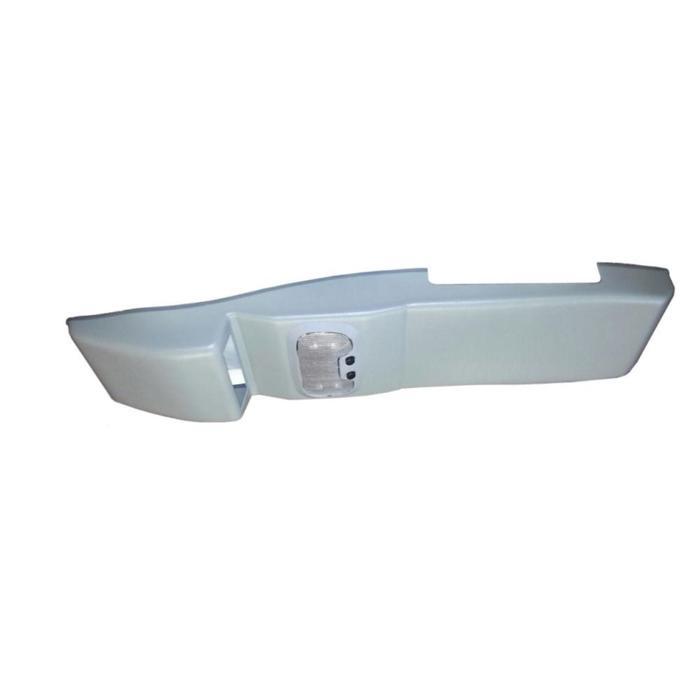 Консоль потолочная для установки рc УАЗ Патриот рестайл.2014, вырез под рc 140х40 мм,серая   67630