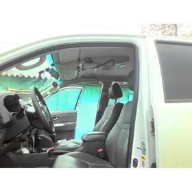 Консоль потолочная для установки р/c Toyota Hilux 2005-2014, вырез под р/c 140х40 мм, серая   676303 Ош