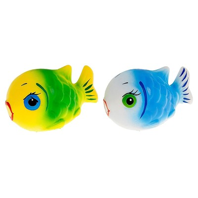 Резиновая игрушка «Рыбка-клоун», МИКС - Фото 1